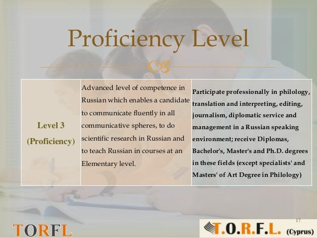 Level Of Russian Language