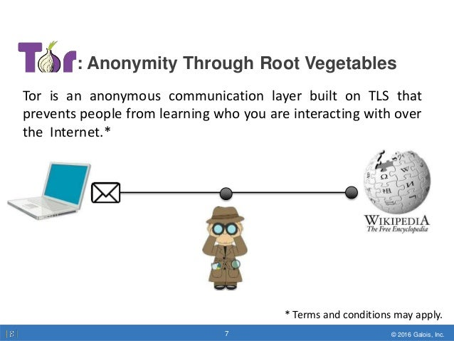© 2016 Galois, Inc.7 © 2016 Galois, Inc.7 : Anonymity Through Root Vegetables Tor is an anonymous communication layer buil...