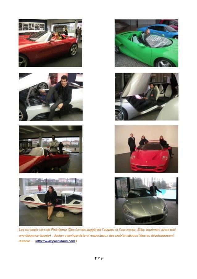 Les concepts cars de Pininfarina (Des formes suggèrent l'audace et l'assurance. Elles expriment avant tout une élégance ép...