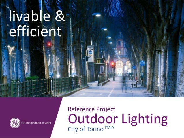livable &efficient            Reference Project            Outdoor Lighting            City of Torino ITALY