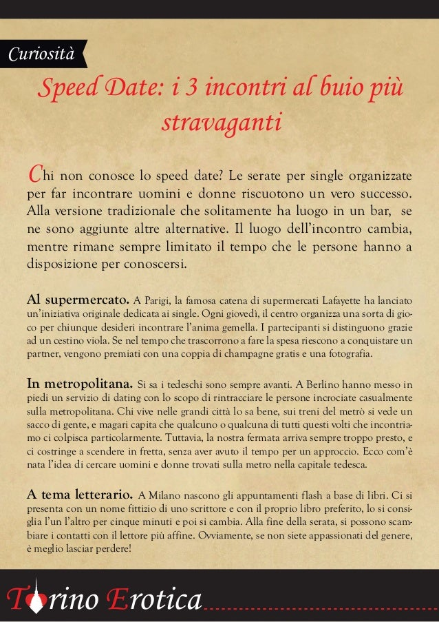 Business Speed incontri Torino