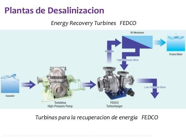 Plantas de Desalinizacion Energy Recovery Turbines FEDCO  Turbinas para la recuperacion de energia FEDCO Torishima Pump Ve...