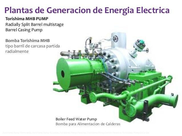 Plantas de Generacion de Energia Electrica Torishima MHB PUMP Radially Split Barrel multistage Barrel Casing Pump Bomba To...