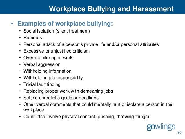Example Verbal Harassment Letter