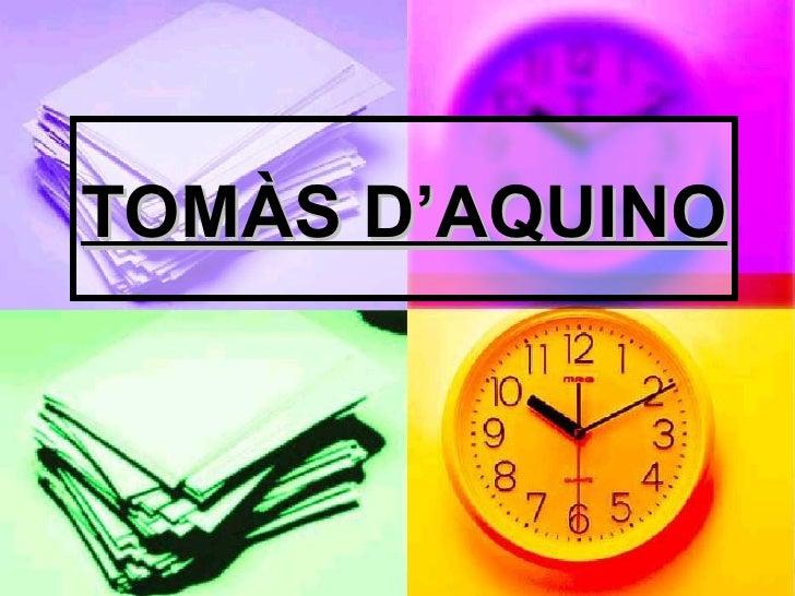 TOMÀS D'AQUINO
