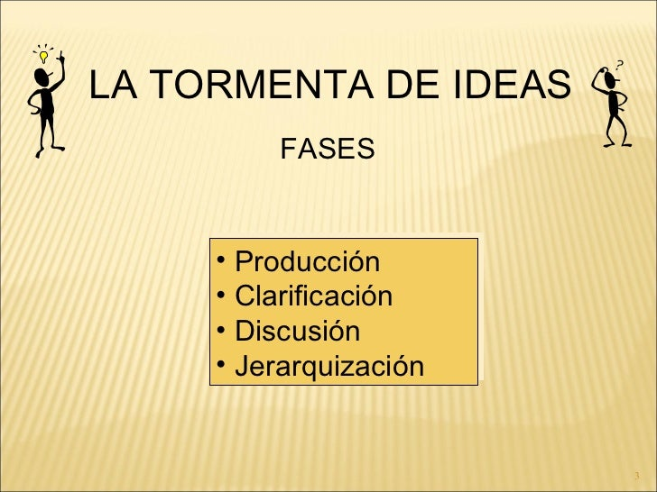 Tormenta de ideas Slide 3