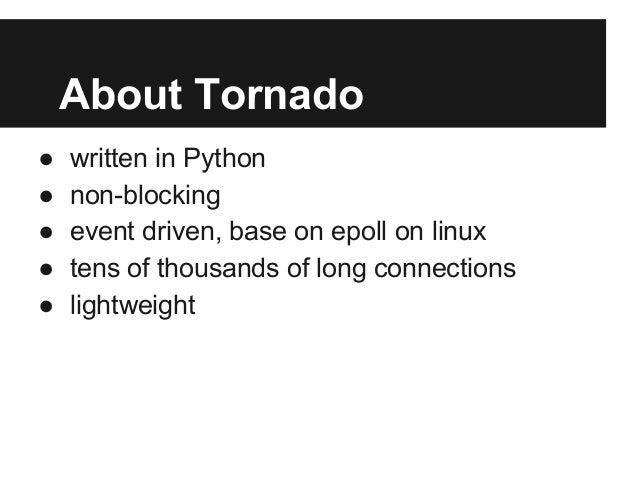 基于Tornado后端系统架构暨最佳实践