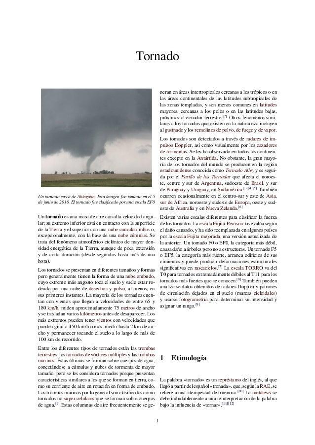 Tornado Un tornado cerca de Abingdon. Esta imagen fue tomada en el 5 de junio de 2010. El tornado fue clasificado por una e...