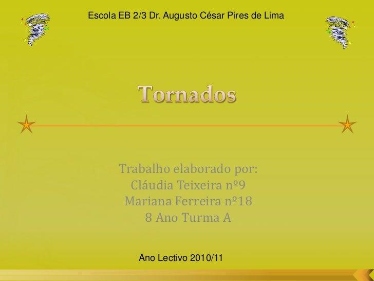 Escola EB 2/3 Dr. Augusto César Pires de Lima       Trabalho elaborado por:         Cláudia Teixeira nº9        Mariana Fe...