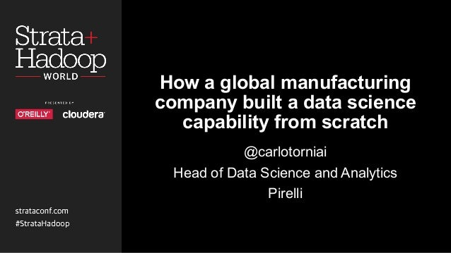 How a global manufacturing company built a data science capability from scratch @carlotorniai Head of Data Science and Ana...
