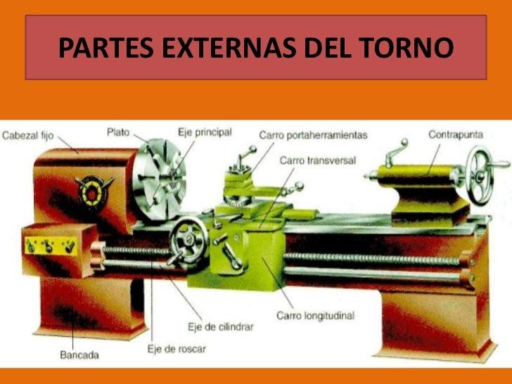 PARTES EXTERNAS DEL TORNO<br />