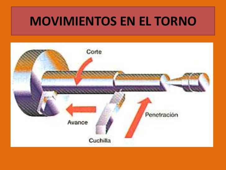 MOVIMIENTOS EN EL TORNO<br />