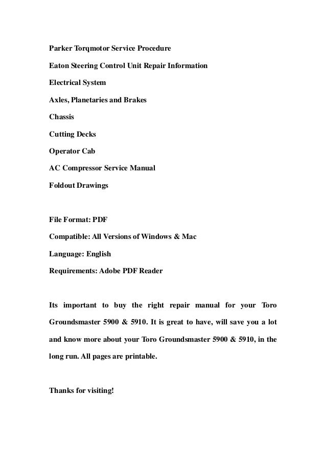 Toro 20483 pdf factory service work shop manual download bryans instant download id 173628718 original factory toro repair manual for your toro fandeluxe Images