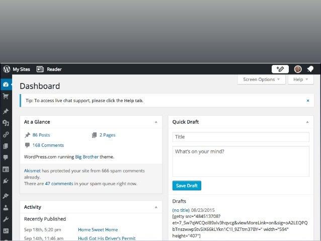 WordPress.com Example Reader Option Notification Bell