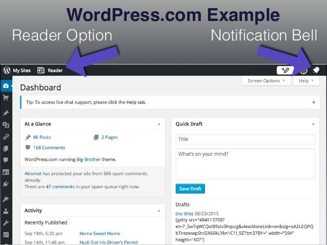 Self Hosted Site No Reader Option No Notification Bell