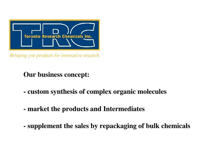 Our business concept: - custom synthesis of complex organic molecules - market the products and Intermediates - supplement...