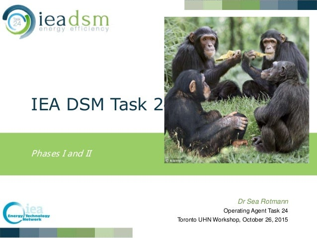 IEA DSM Task 24 Phases I and II Dr Sea Rotmann Operating Agent Task 24 Toronto UHN Workshop, October 26, 2015
