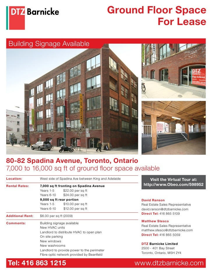 Ground Floor Space                                                                          For Lease   Building Signage A...