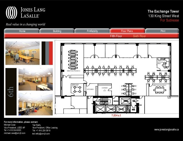 Toronto financial core office space for lease over 5000 sf novemb for 130 william street 5th floor