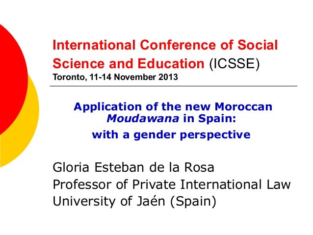 International Conference of Social Science and Education (ICSSE) Toronto, 11-14 November 2013  Application of the new Moro...