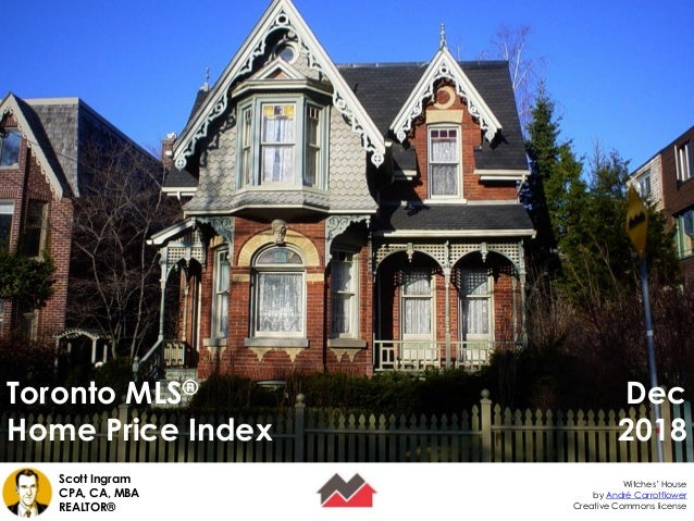 Toronto MLS® Home Price Index Creative Commons license Scott Ingram CPA, CA, MBA REALTOR® Witches' House by André Carrotfl...