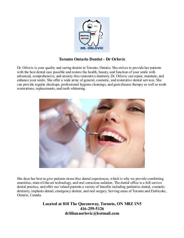 Toronto ontario dentist dr orlovic
