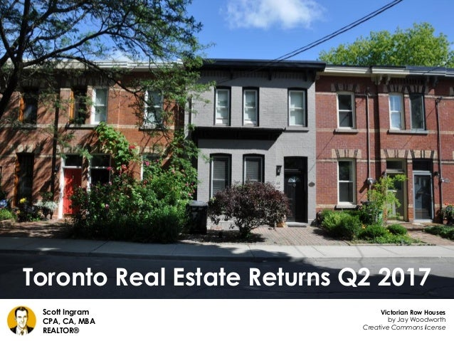 Toronto Real Estate Returns Q2 2017 Scott Ingram CPA, CA, MBA REALTOR® Victorian Row Houses by Jay Woodworth Creative Comm...