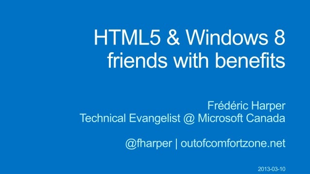 Toronto user groups workshop 2013 03 10 html5 windows 8 friend content love sciox Image collections