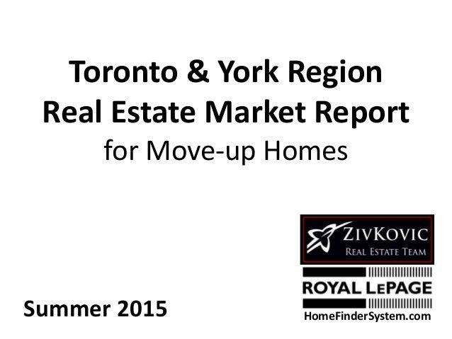 Toronto & York Region Real Estate Market Report for Move-up Homes Summer 2015 HomeFinderSystem.com