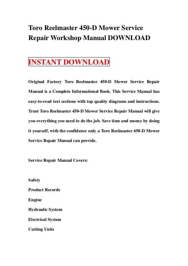 toro xl lawn tractor factory service repair manual pdf