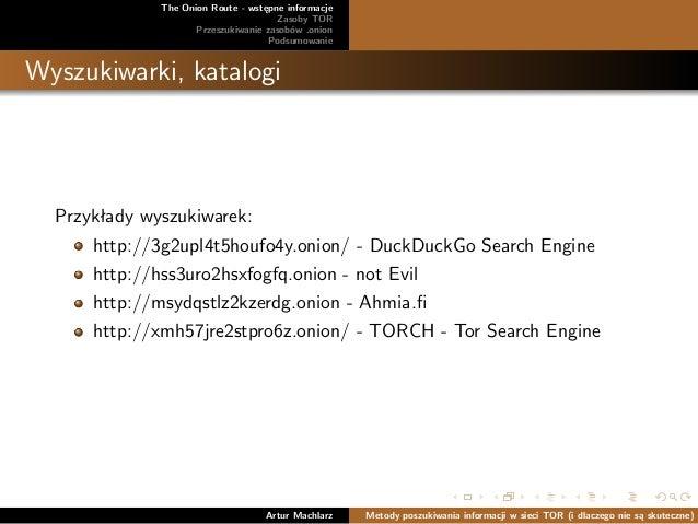 Metody poszukiwania informacji w sieci TOR (i dlaczego nie są skutecz…