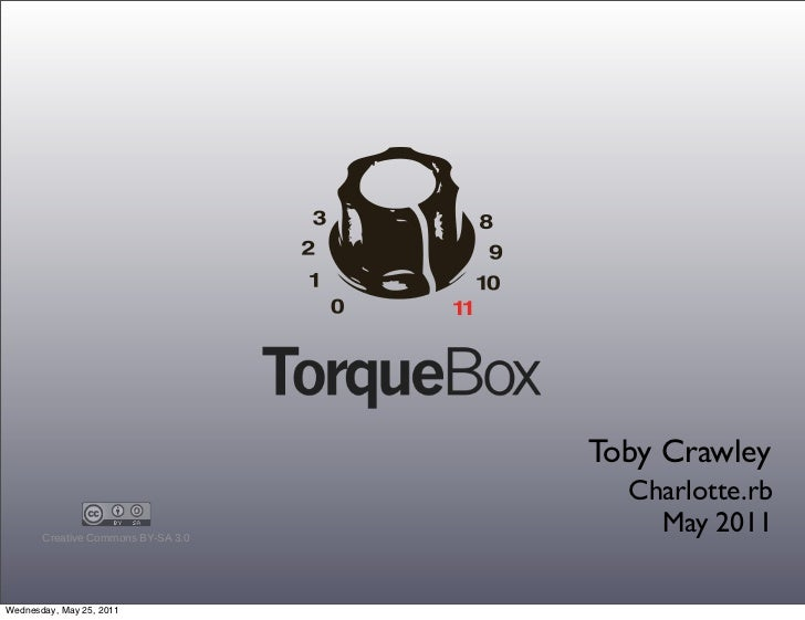 Toby Crawley                                          Charlotte.rb       Creative Commons BY-SA 3.0                   ...