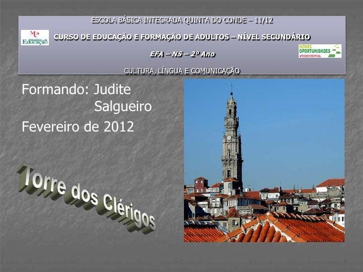 ESCOLA BÁSICA INTEGRADA QUINTA DO CONDE – 11/12    CURSO DE EDUCAÇÃO E FORMAÇÃO DE ADULTOS – NÍVEL SECUNDÁRIO             ...