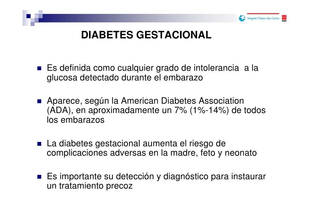 Cribaje y diagnóstico de la Diabetes gestacional en el