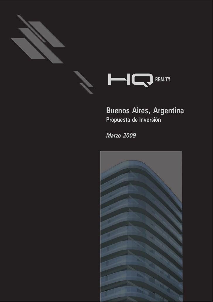 REALTYBuenos Aires, ArgentinaPropuesta de InversiónMarzo 2009