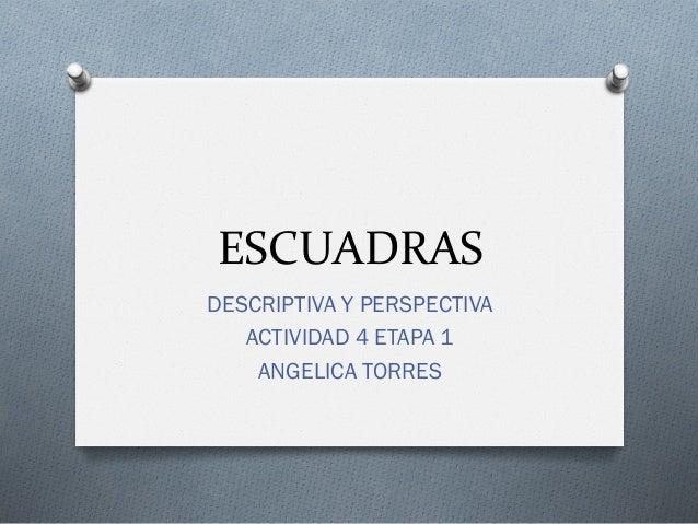 ESCUADRASDESCRIPTIVA Y PERSPECTIVA   ACTIVIDAD 4 ETAPA 1    ANGELICA TORRES
