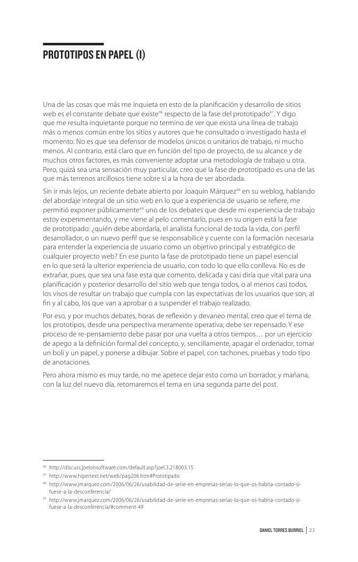 EL PROCESO DE ARQUITECTURADE INFORMACIÓN (II)La primera parte del post simplemente pretendía describir un marco que dibuja...