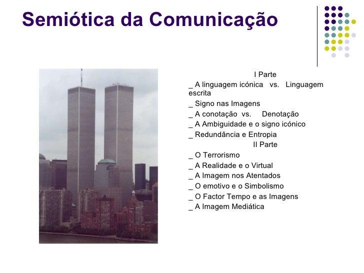 Semiótica da Comunicação <ul><li>I Parte </li></ul><ul><li>_ A linguagem icónica  vs.  Linguagem escrita </li></ul><ul><li...