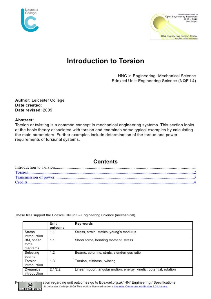 Introduction to Torsion                                                                                          HNC in En...