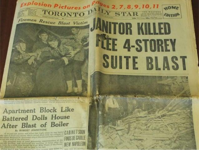1958 Toronto Boiler Explosion