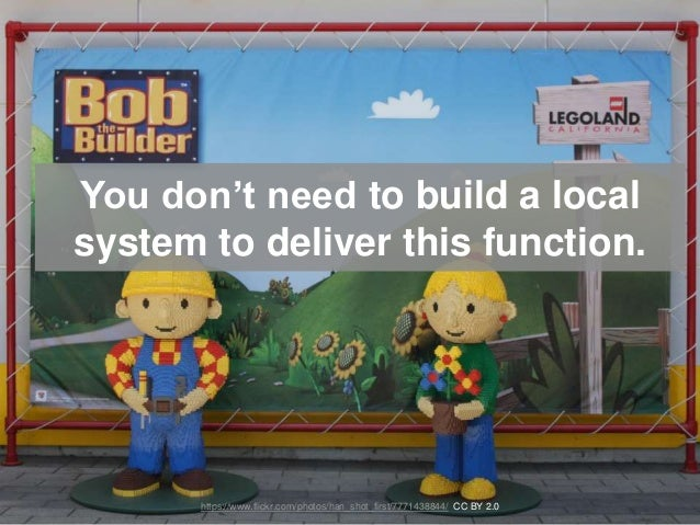 You don't need to build a local system to deliver this function. https://www.flickr.com/photos/han_shot_first/7771438844/ ...