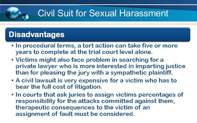Disadvantages Of Sexual Harassment