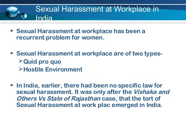 Sexual harassment at workplace cases india