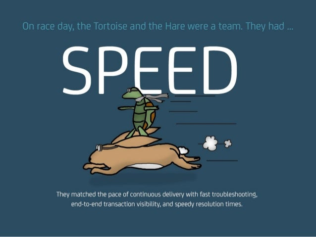 On race day, the Tortoise and the Hare were a team. They had … SPEED They matched the pace of continuous delivery with fas...