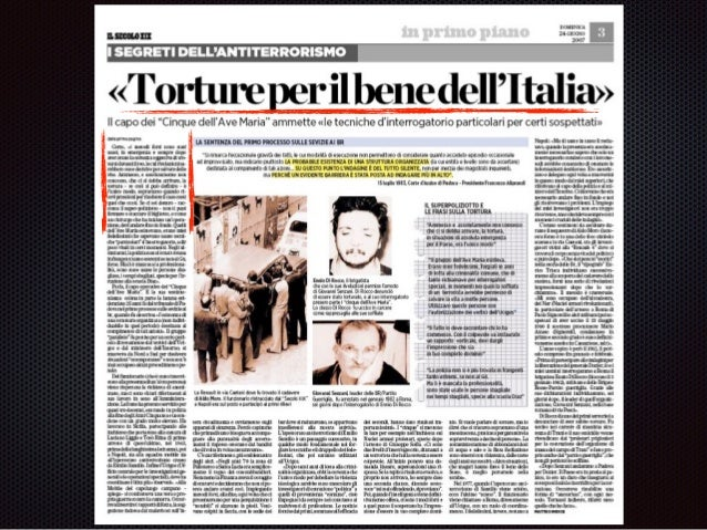 Tortura di Stato .. ad eruendam vertiatem?