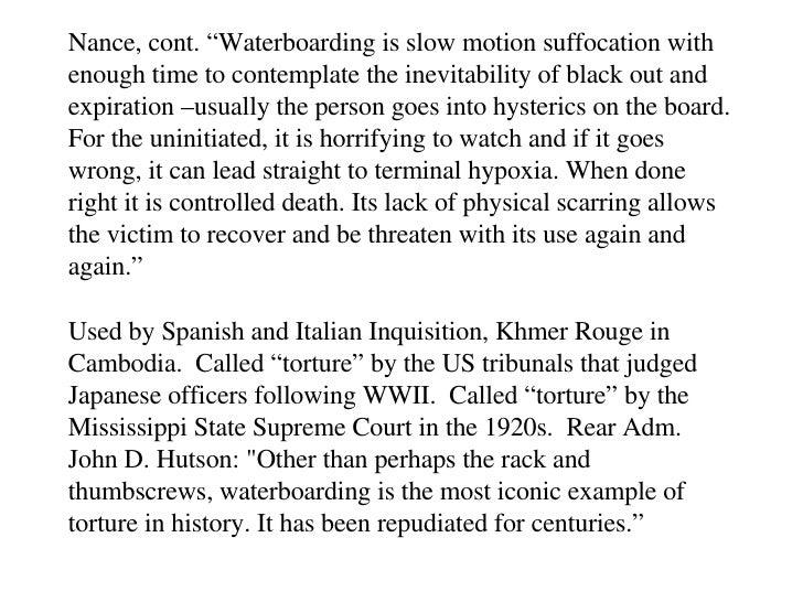 waterboarding persuasive essay