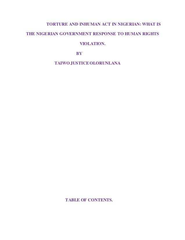human rights in nigeria pdf