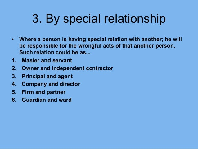 master and servant relationship in tort