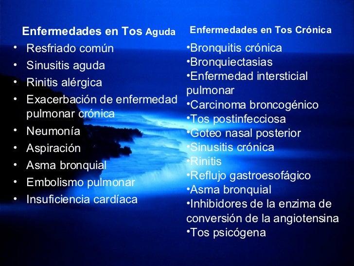 <ul><li>Enfermedades en Tos  Aguda </li></ul><ul><li>Resfriado común </li></ul><ul><li>Sinusitis aguda </li></ul><ul><li>R...