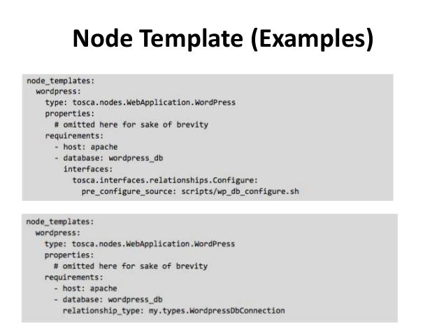 Tosca explained node template examples malvernweather Choice Image